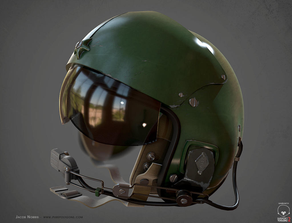 Helicopter Helmet - Revisit by Jacob-3D