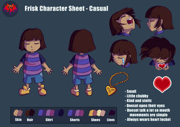 Frisk Character Reference Sheet (LOVE Series) by SavaPhoenixStudios