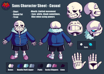 Sans Character Reference Sheet (LOVE Series) by SavaPhoenixStudios