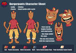 Burgerpants Character Ref Sheet (LOVE Series) by SavaPhoenixStudios