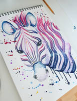 Watercolour Zebra FOR SALE by Georgiavana
