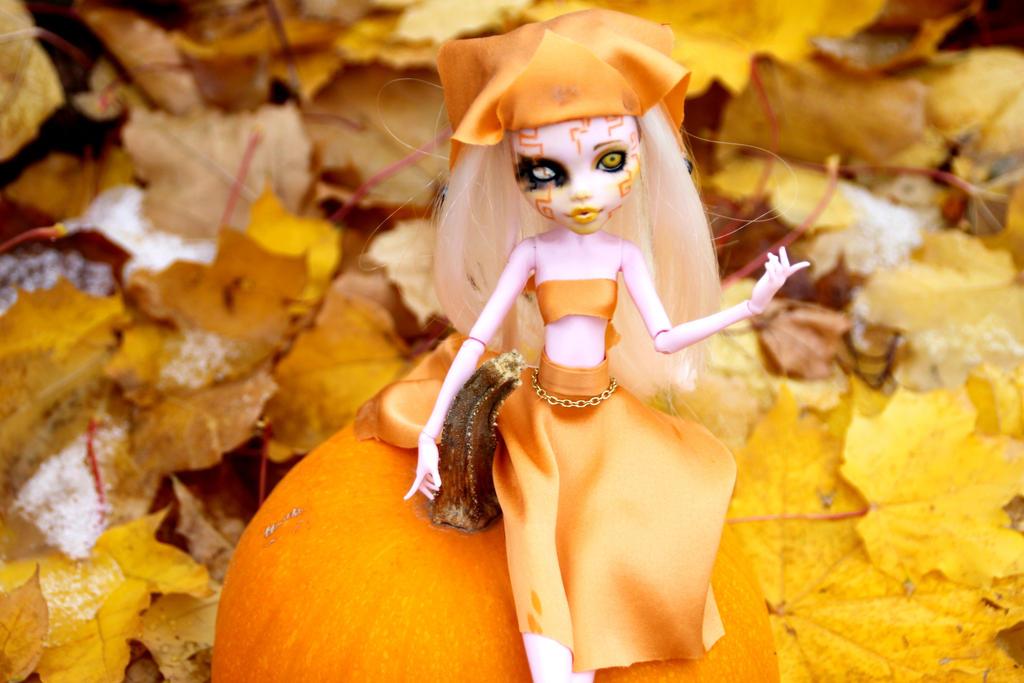 Pumpkin Sprite Monster High Custom by AliceWHatter