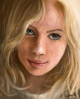 speed art Blond girl by daRoz