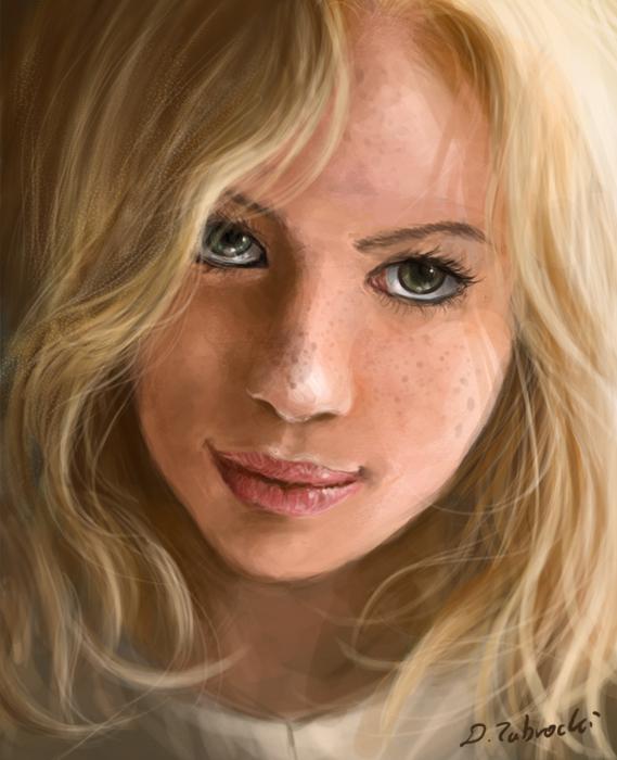speed art Blond girl