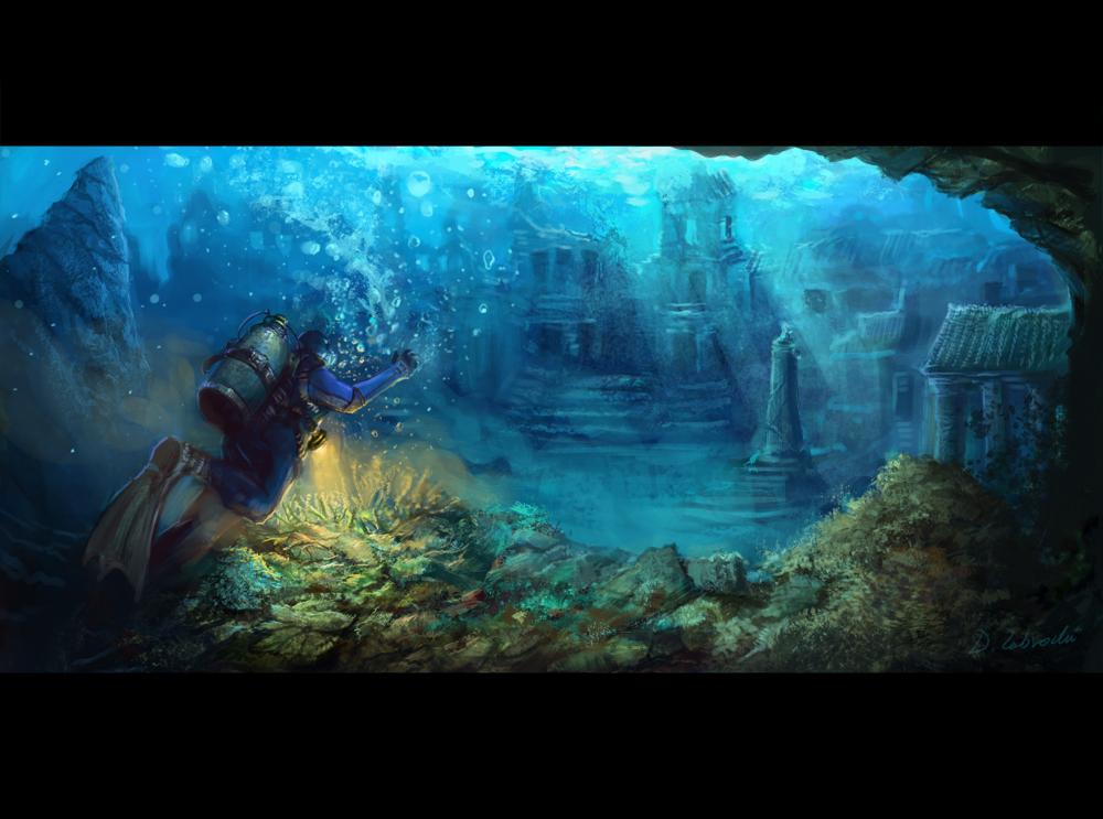 Underwater Metropolis by daRoz on DeviantArt