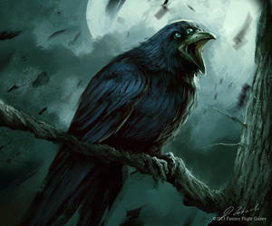 3 Eyed Raven by daRoz