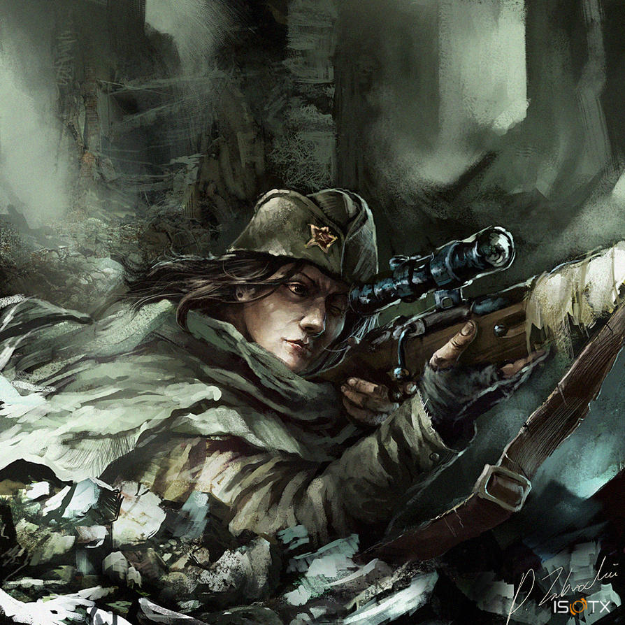 Soviet female Sniper by daRoz