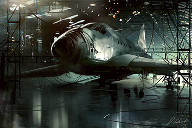 Space shuttle by daRoz