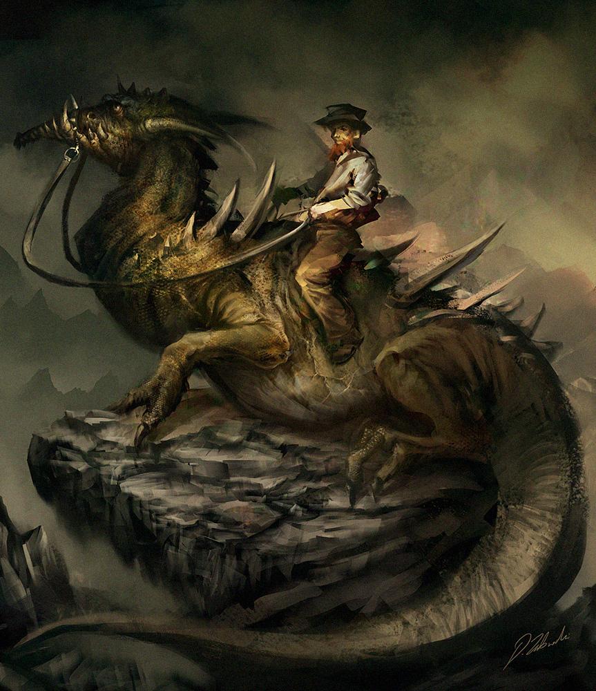 Lizard Rider by daRoz