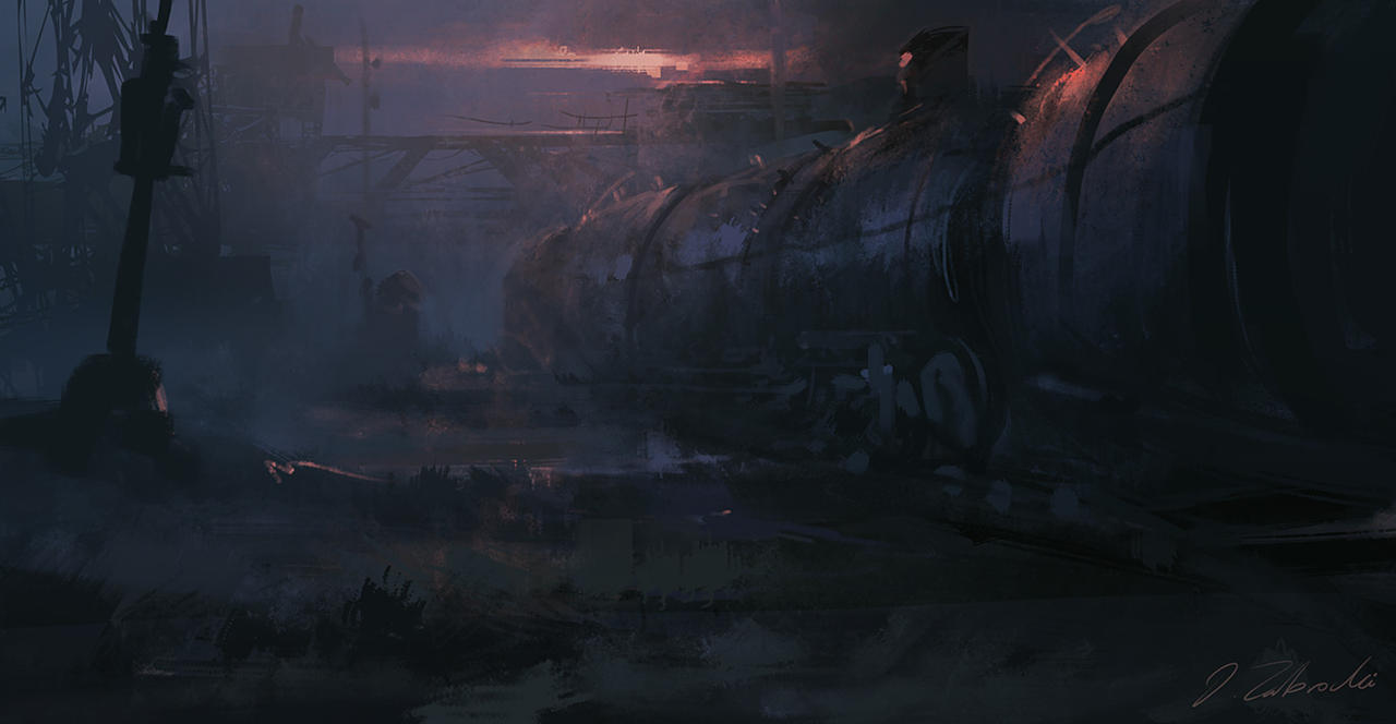 Abandoned station by daRoz
