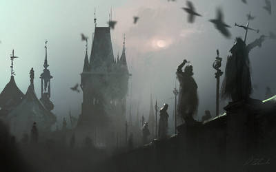 Bridge in the fog by daRoz