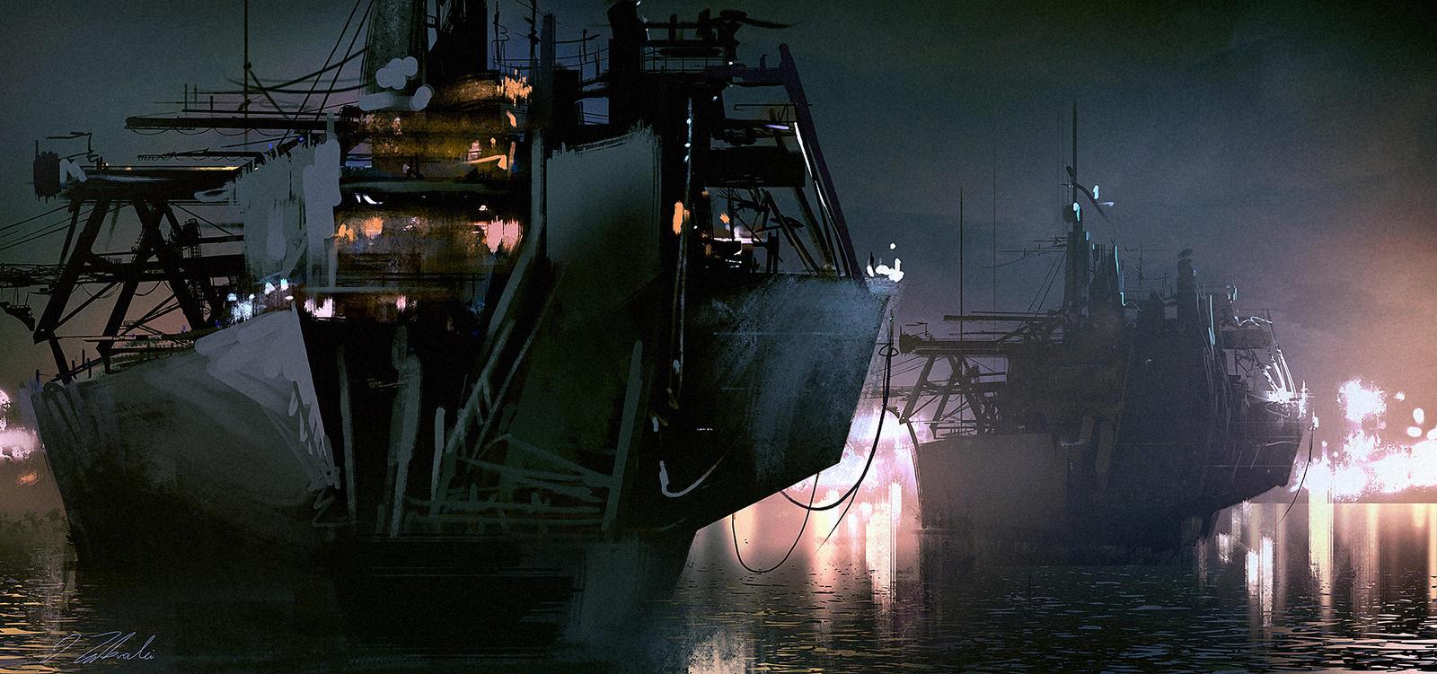 Cargo Ship by daRoz