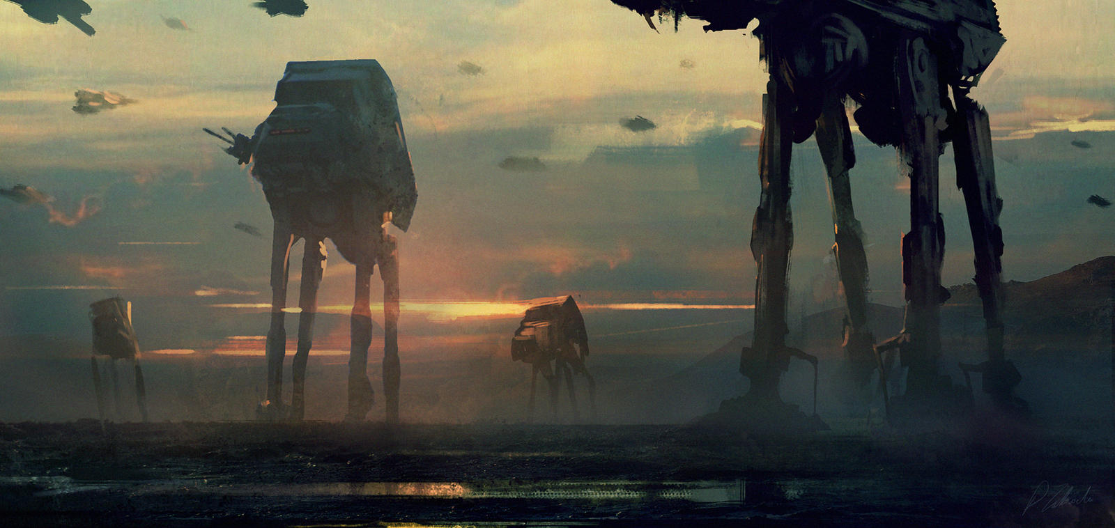 Imperial Walkers by daRoz on DeviantArt