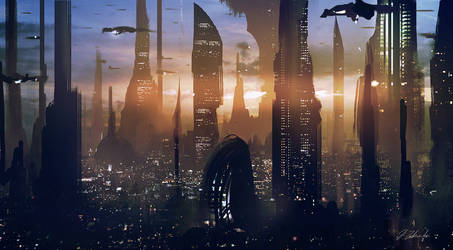 Coruscant #2 by daRoz