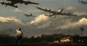 15min speedpaint Flying Army by daRoz