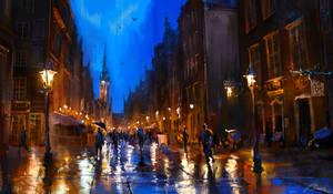 Walking on the Long street