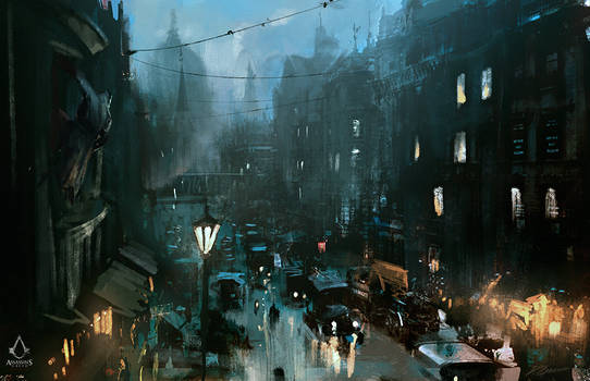 Assassin's Creed: Syndicate Street View-sketch