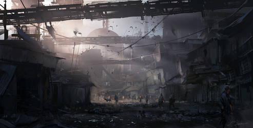 Industrialized Slums by daRoz