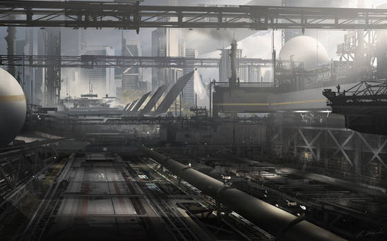Outskirts factory by daRoz