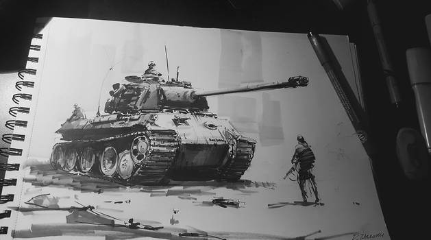 Inktober #2 2016 Panther ready to move!