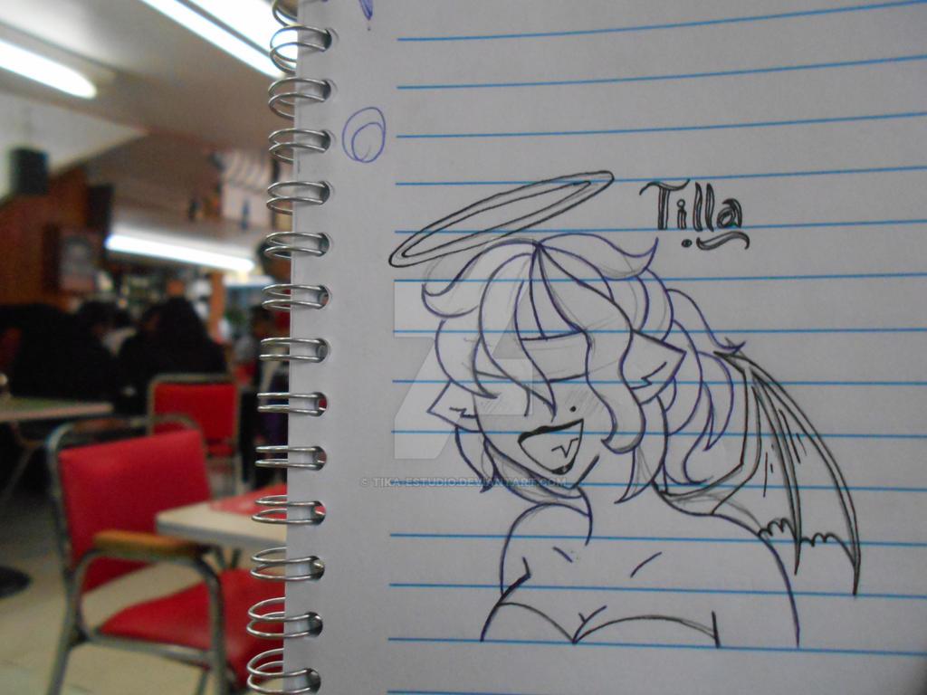 Tilla en Cafeteria by Tika-estudio