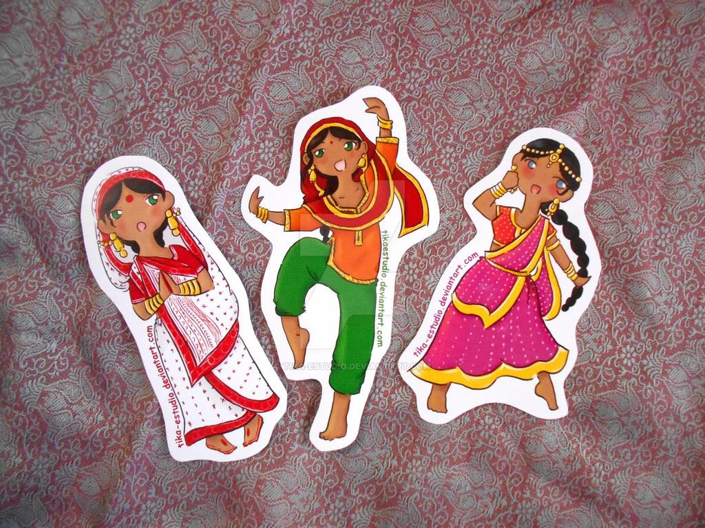 India Stickers by Tika-estudio