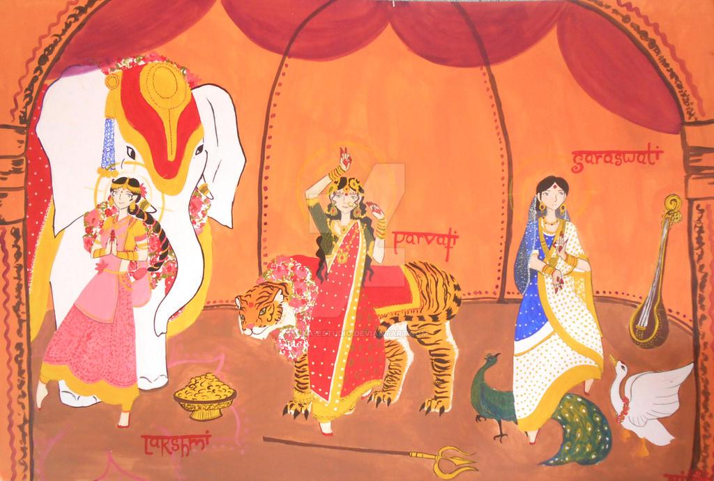 Tres diosas by Tika-estudio