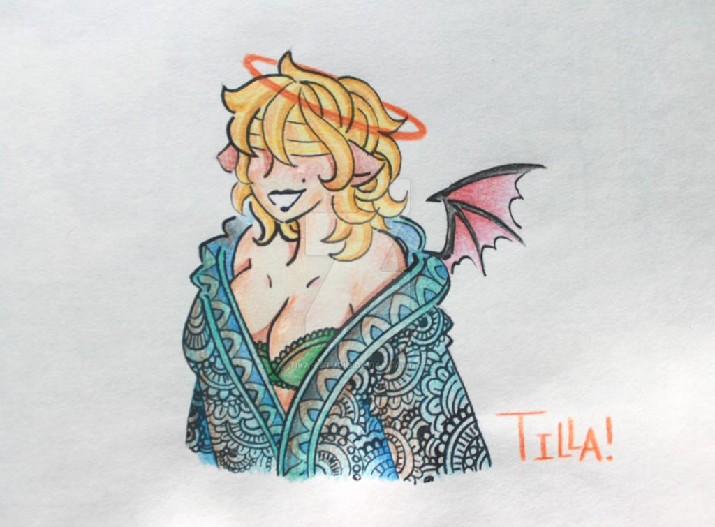 Tilla en abrigo azul by Tika-estudio