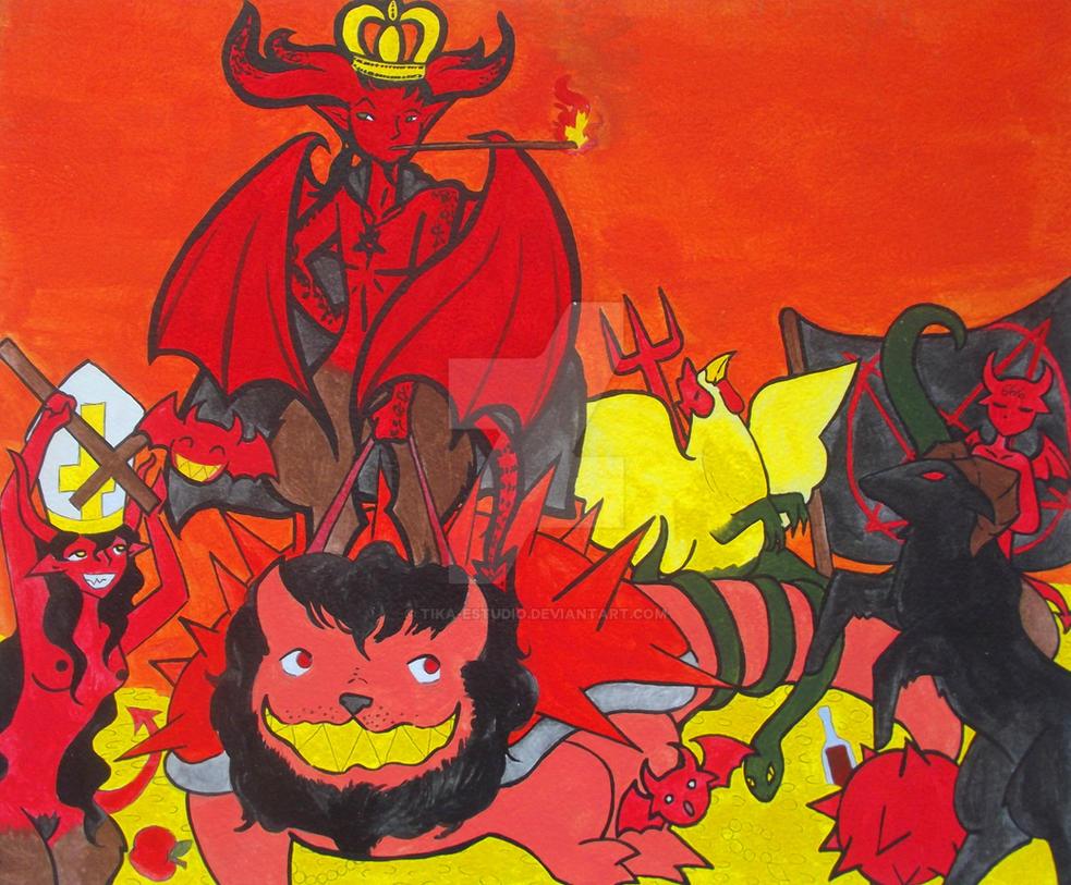 El Diablo y su corte by Tika-estudio