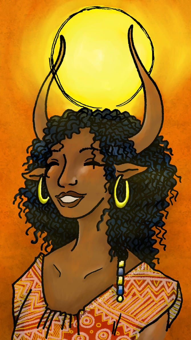 Hathor Sonriendo I by Tika-estudio