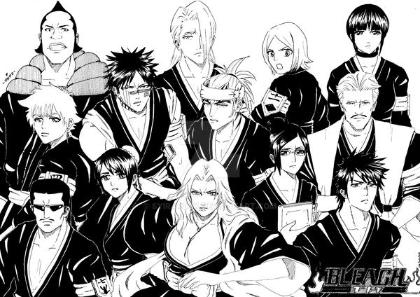 Bleach Vice Captains By SyiraRock On DeviantArt