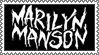 Marilyn Manson Stamp by coma-dog