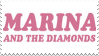 Marina and the Diamonds Stamp by coma-dog