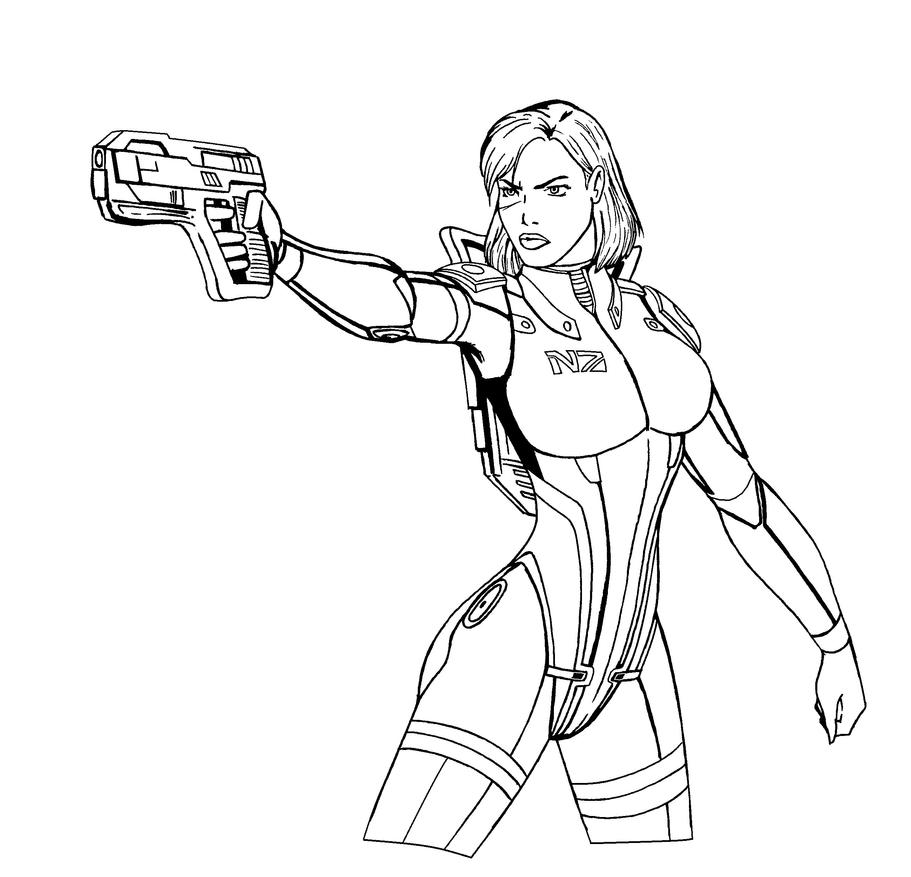 Mass Effect Turian Coloring Pages Coloring Pages