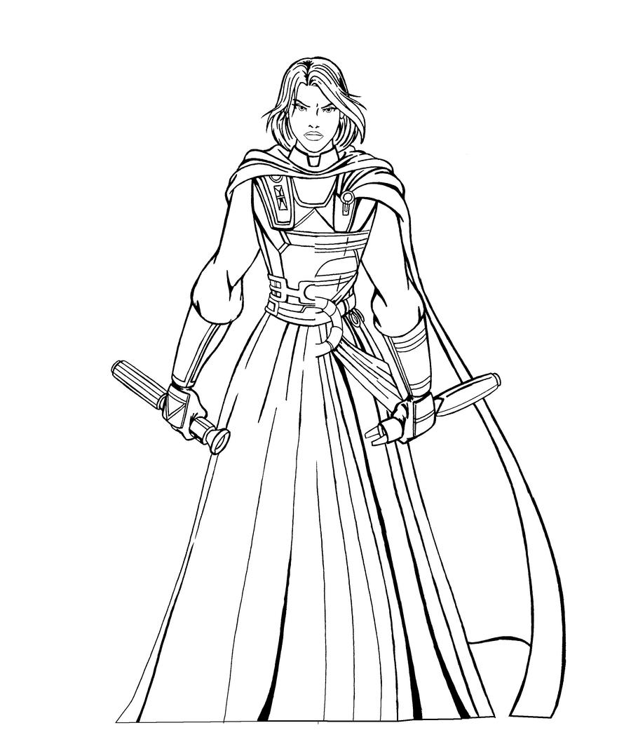 Revan - Two Sides lineart by JosephB222