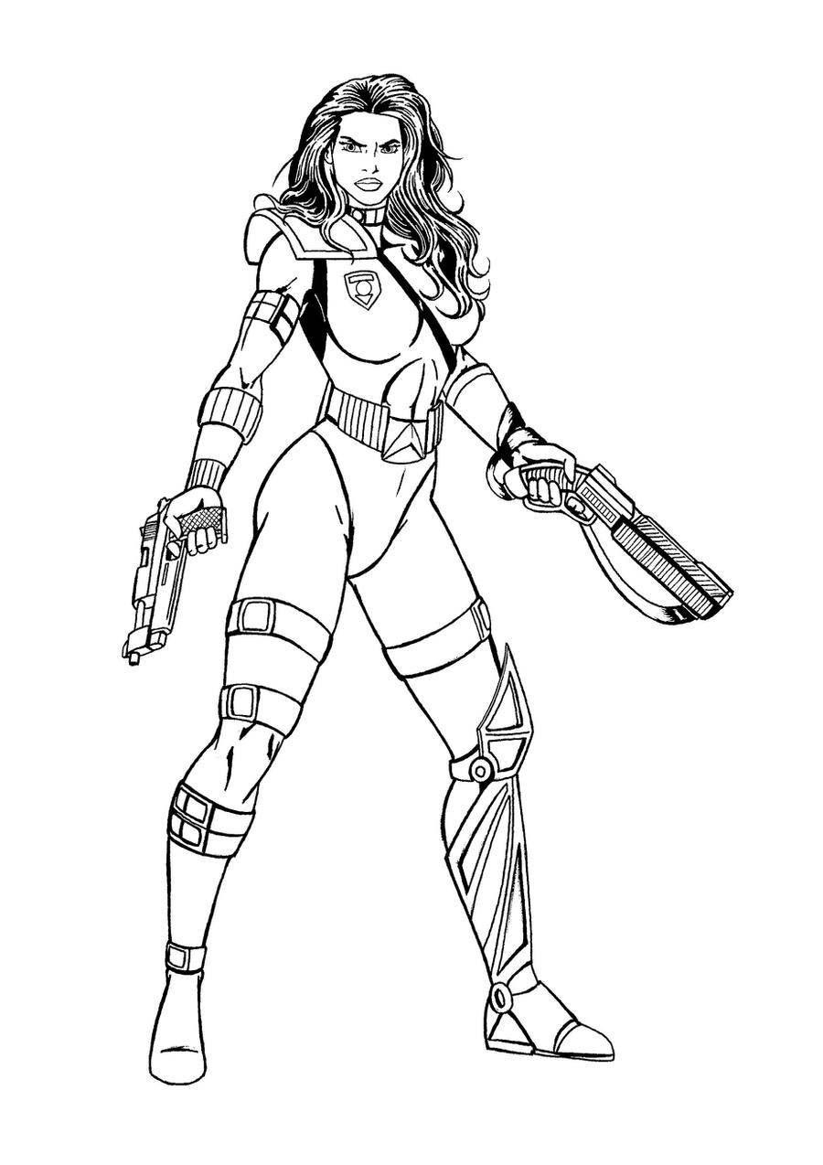 Line Art Space : Space cop lineart by josephb on deviantart