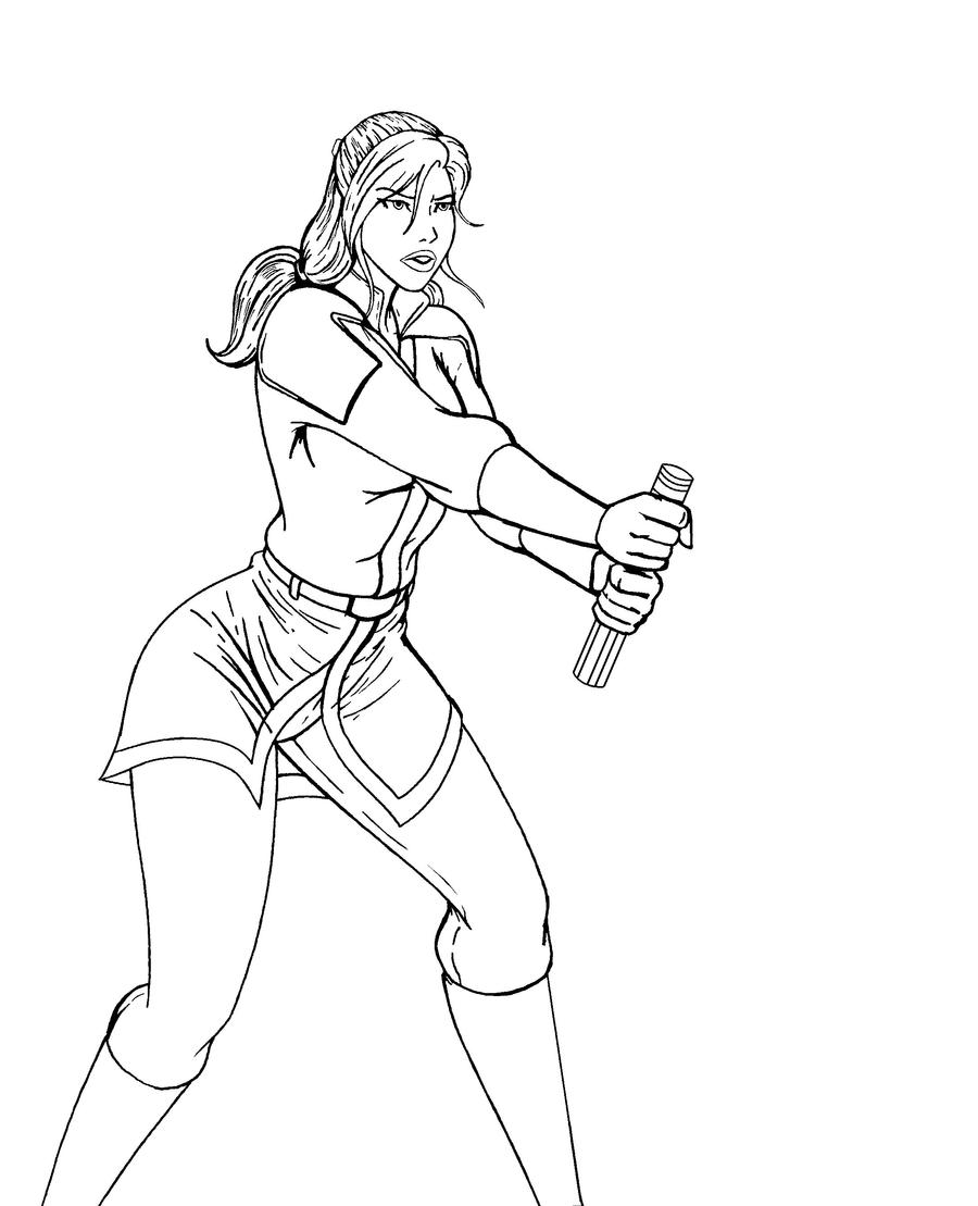 Female Jedi Coloring Pages