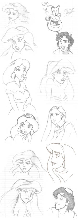 Disney sketches 1