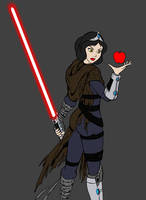 Darth Snow White - red by JosephB222
