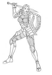 DA: Origins Lady Cousland WIP by JosephB222