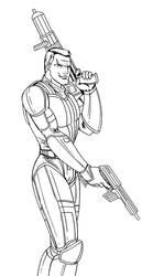 Canderous Ordo lineart