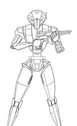HK-47 lineart