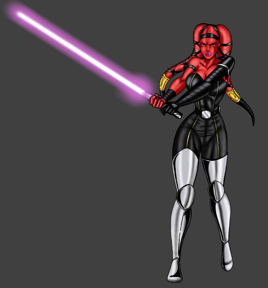 Jaden Korr-Jedi Academy purple by JosephB222