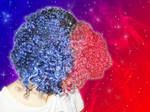 Red and blue hair !!