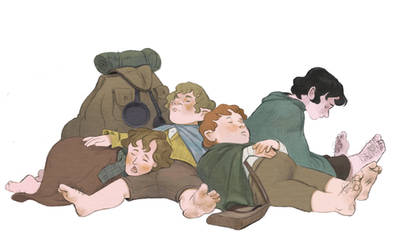 Sleeping Hobbits