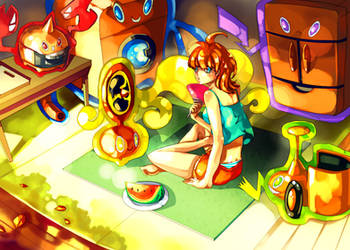 Pokemon : Rotom room by Sa-Dui