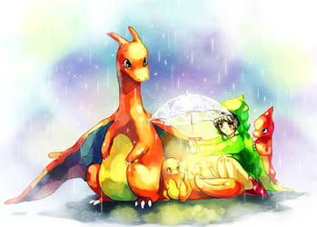 Pokemon : Under umbrella by Sa-Dui