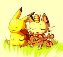 Pokemon : Nyasu no uta by Sa-Dui