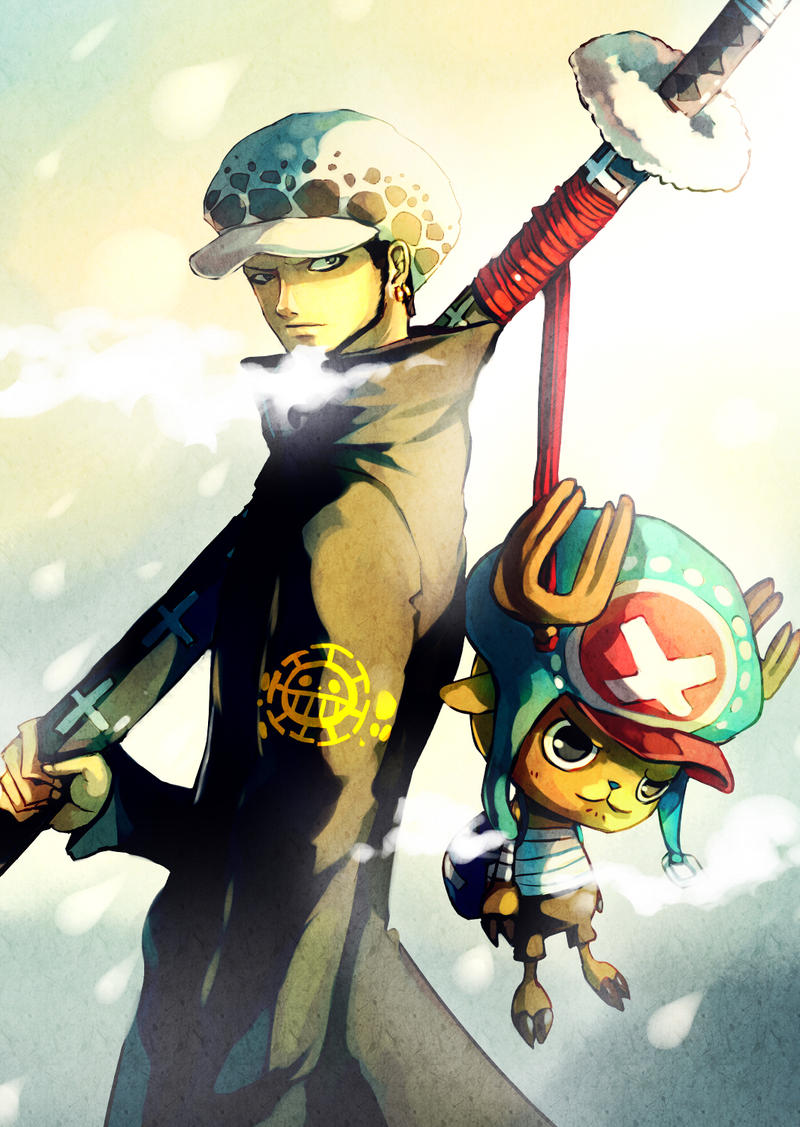 One Piece : Trafalgar Law with Chopper by Sa-Dui