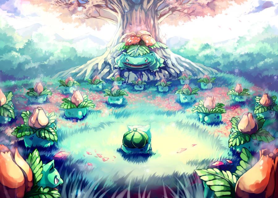 Le Truel de la semaine : Princesse VS Héros VS Antagoniste Pokemon___bulbasaur_secret_garden_by_sa_dui-d52umr2